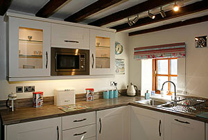 kitchen of the holiday cottage